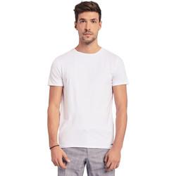 textil Herre T-shirts m. korte ærmer Gaudi 011BU64093 hvid