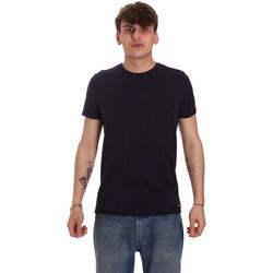 textil Herre T-shirts m. korte ærmer Gaudi 011BU64093 Blå