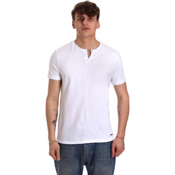 textil Herre T-shirts m. korte ærmer Gaudi 011BU64094 hvid