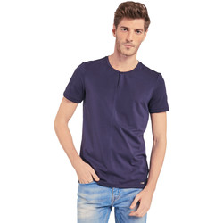 textil Herre T-shirts m. korte ærmer Gaudi 011BU64094 Blå