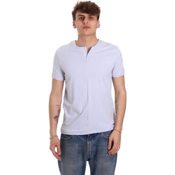 textil Herre T-shirts m. korte ærmer Gaudi 011BU64094 Violet