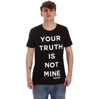 textil Herre T-shirts m. korte ærmer Gaudi 011BU64107 Sort