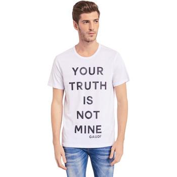 textil Herre T-shirts m. korte ærmer Gaudi 011BU64107 hvid