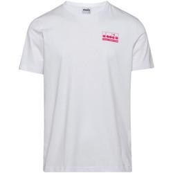 textil Herre T-shirts m. korte ærmer Diadora 502175837 hvid