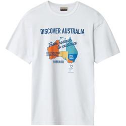 textil Herre T-shirts m. korte ærmer Napapijri NP0A4E8H hvid