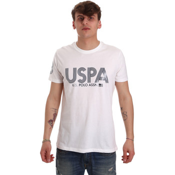 textil Herre T-shirts m. korte ærmer U.S Polo Assn. 57197 49351 hvid