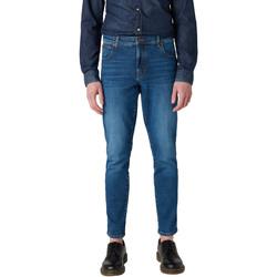 textil Herre Smalle jeans Wrangler W12ST112E Blå