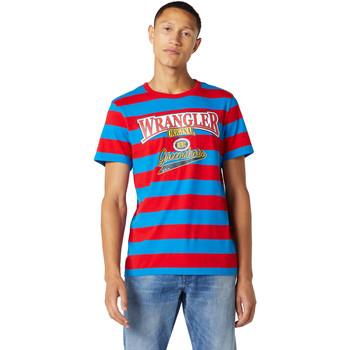 textil Herre T-shirts m. korte ærmer Wrangler W7E1FKXKL Blå