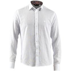 textil Herre Skjorter m. lange ærmer Lumberjack CM80846 001 603 hvid