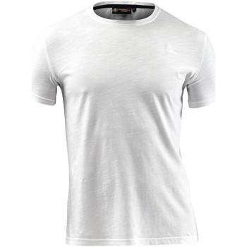 textil Herre T-shirts m. korte ærmer Lumberjack CM60343 004 517 hvid
