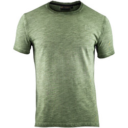 textil Herre T-shirts m. korte ærmer Lumberjack CM60343 004 517 Grøn