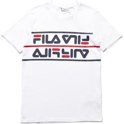 textil Herre T-shirts m. korte ærmer Fila 687474 hvid