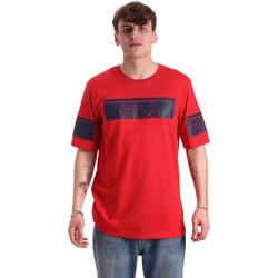 textil Herre T-shirts m. korte ærmer Fila 683085 Rød