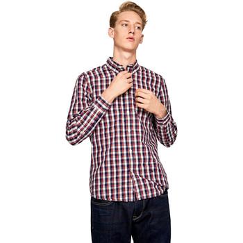 textil Herre Skjorter m. lange ærmer Pepe jeans PM306161 Blå