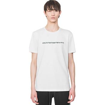 textil Herre T-shirts m. korte ærmer Antony Morato MMKS01754 FA100144 hvid