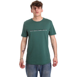 textil Herre T-shirts m. korte ærmer Antony Morato MMKS01754 FA100144 Grøn