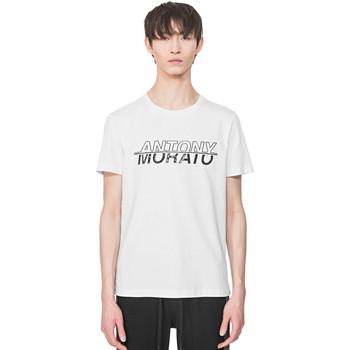 textil Herre T-shirts m. korte ærmer Antony Morato MMKS01816 FA100144 hvid
