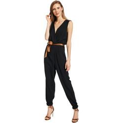 textil Dame Buksedragter / Overalls Gaudi 011BD25045 Sort