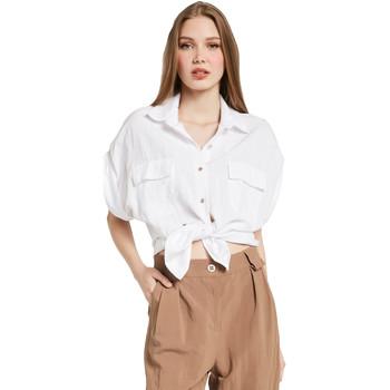 textil Dame Skjorter / Skjortebluser Gaudi 011BD45030 hvid