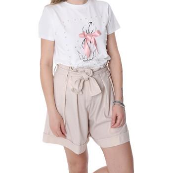 textil Dame Shorts Fracomina FR20SP150 Beige