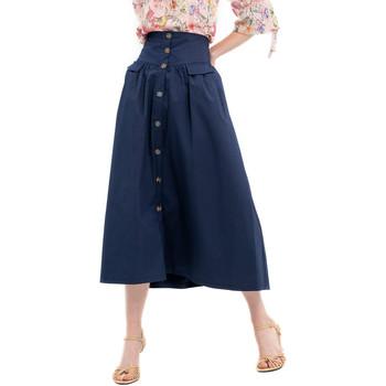 textil Dame Nederdele Fracomina FR20SP133 Blå