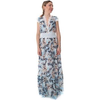textil Dame Lange kjoler Fracomina FR20SP432 Blå