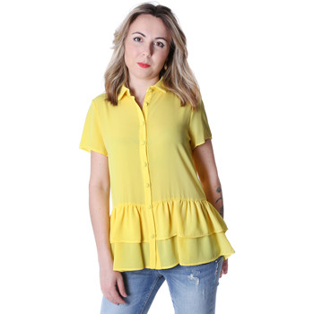 textil Dame Skjorter / Skjortebluser Fracomina FR20SP039 Gul