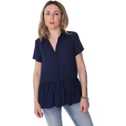 textil Dame Skjorter / Skjortebluser Fracomina FR20SP039 Blå