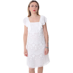 textil Dame Korte kjoler Fracomina FR20SP584 hvid