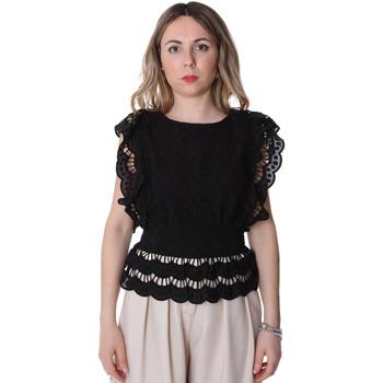 textil Dame Toppe / Bluser Fracomina FR20SP586 Sort