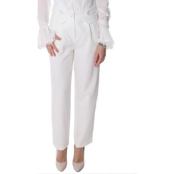 textil Dame Chinos / Gulerodsbukser Fracomina FR20SP164 hvid