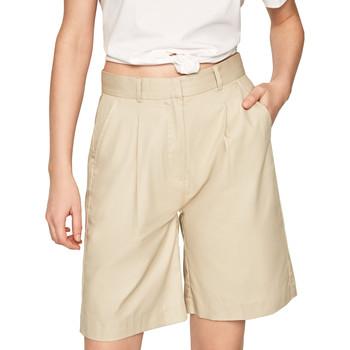 textil Dame Shorts Pepe jeans PL800886 Beige