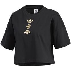 textil Dame T-shirts m. korte ærmer adidas Originals FS7232 Sort