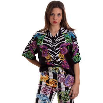 textil Dame Skjorter / Skjortebluser Versace B0HVB604S0793983 Sort