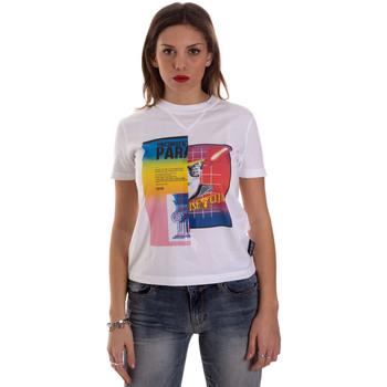 textil Dame T-shirts m. korte ærmer Versace B2HVB7V630331003 hvid