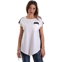 textil Dame T-shirts m. korte ærmer Versace D3HVB657S0683904 hvid