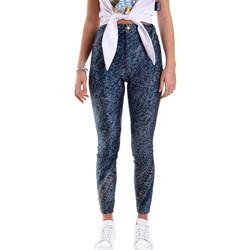 textil Dame Leggings Versace A1HVB009S0684904 Blå