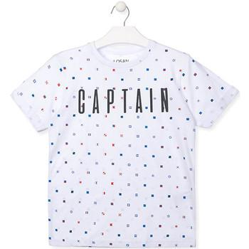 textil Dreng T-shirts m. korte ærmer Losan 013-1001AL hvid