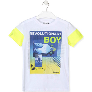 textil Dreng T-shirts m. korte ærmer Losan 013-1006AL hvid