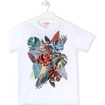 textil Dreng T-shirts m. korte ærmer Losan 013-1010AL hvid