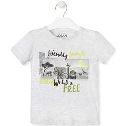 textil Børn T-shirts m. korte ærmer Losan 015-1010AL Grå
