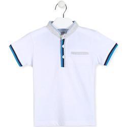 textil Dreng Polo-t-shirts m. korte ærmer Losan 015-1791AL hvid