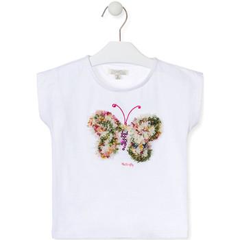 textil Pige T-shirts m. korte ærmer Losan 016-1790AL hvid
