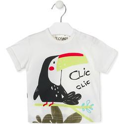 textil Børn T-shirts m. korte ærmer Losan 017-1012AL hvid