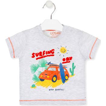 textil Børn T-shirts m. korte ærmer Losan 017-1015AL Grå