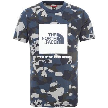 textil Børn T-shirts m. korte ærmer The North Face NF0A3BS2M7Z1 Blå
