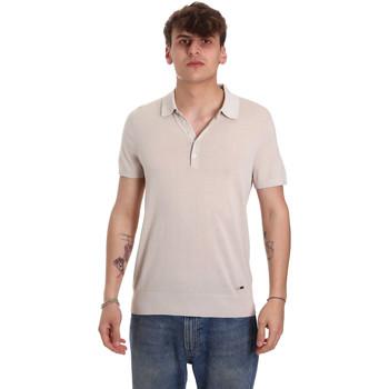 textil Herre Polo-t-shirts m. korte ærmer Gaudi 011BU53011 Beige