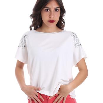 textil Dame T-shirts m. korte ærmer Gaudi 011FD64022 hvid