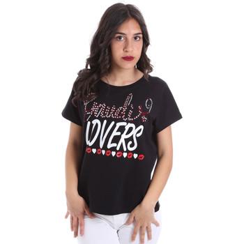 textil Dame T-shirts m. korte ærmer Gaudi 011BD64008 Sort