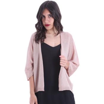 textil Dame Veste / Cardigans Gaudi 011FD53010 Lyserød